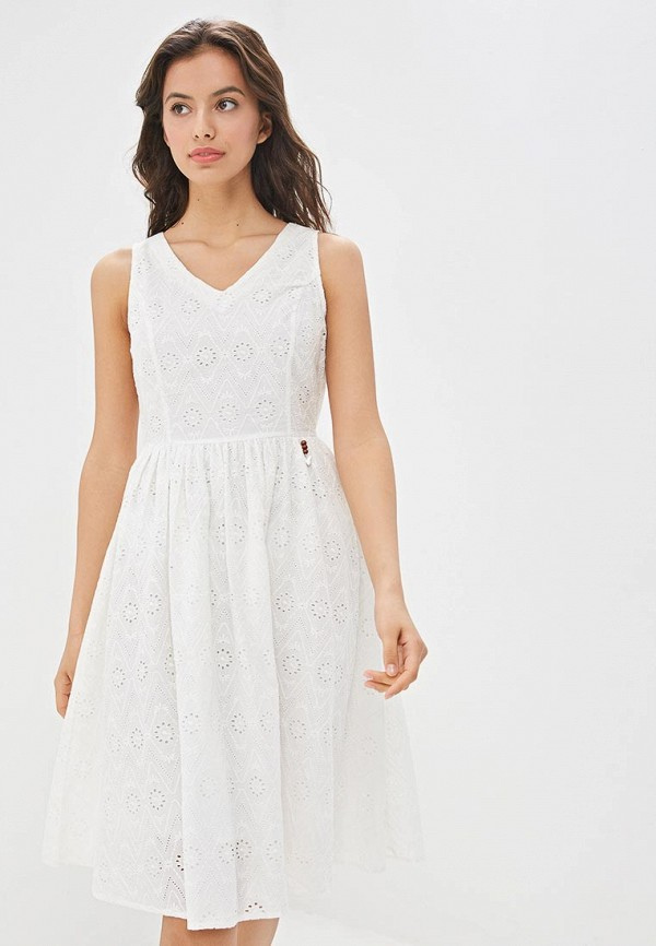 женское повседневные платье baon, белое