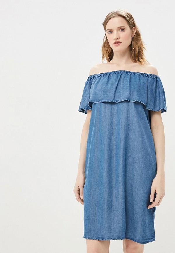 женское джинсовые платье baon, синее