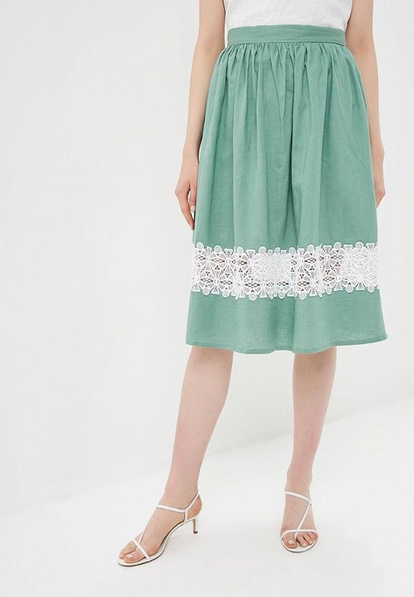 женская юбка baon, зеленая