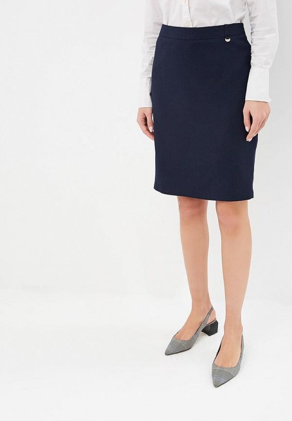 женская прямые юбка baon, синяя