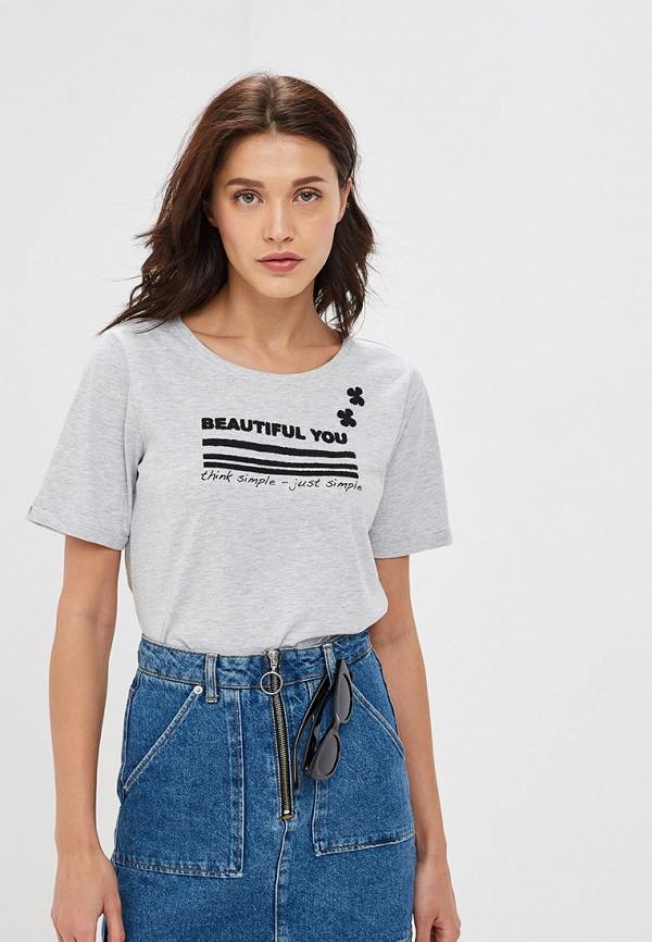 женская футболка baon, серая