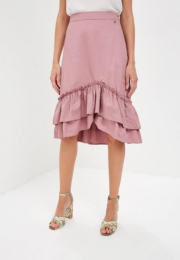 женская юбка baon, розовая