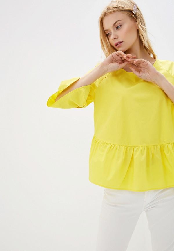 женская блузка baon, желтая