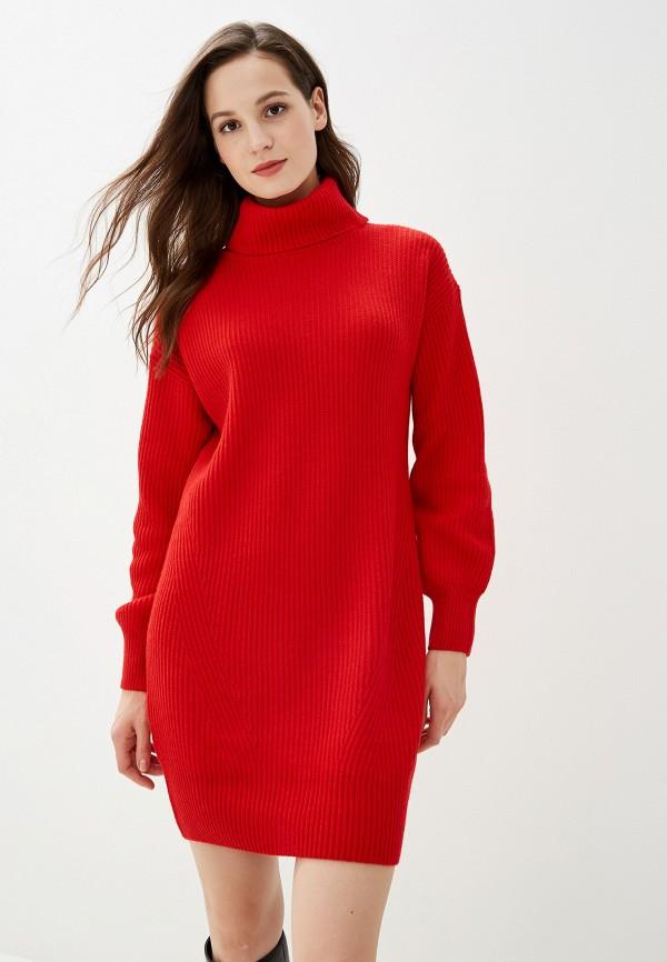 Фото - Женское вязаное платье Baon красного цвета