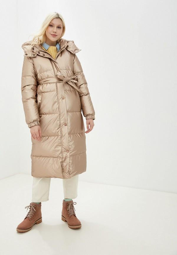 женское пальто baon, золотое