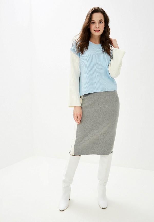 Фото 2 - женскую юбку Baon серого цвета