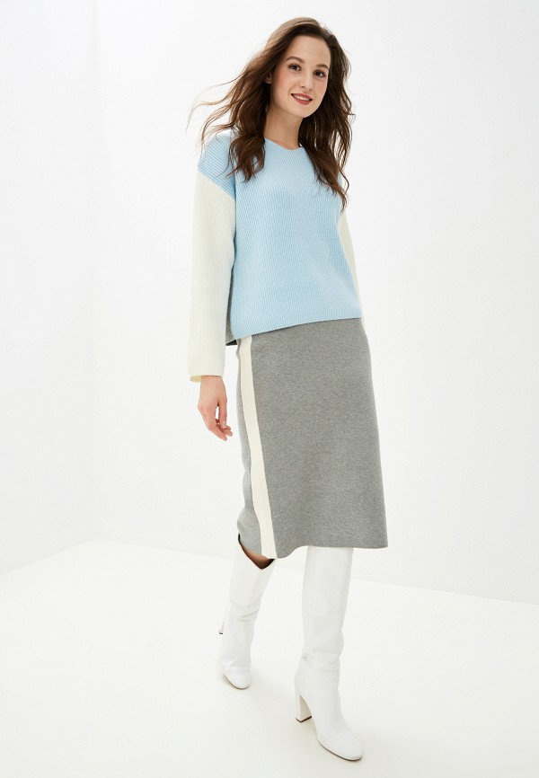 Фото 5 - женскую юбку Baon серого цвета