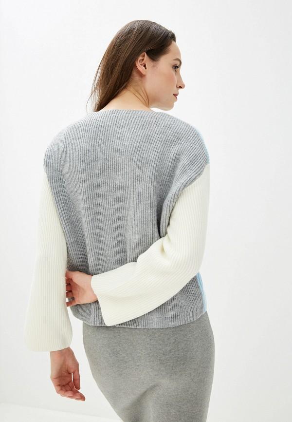 Фото 3 - женскую юбку Baon серого цвета
