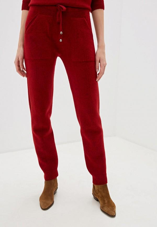 женские повседневные брюки baon, бордовые