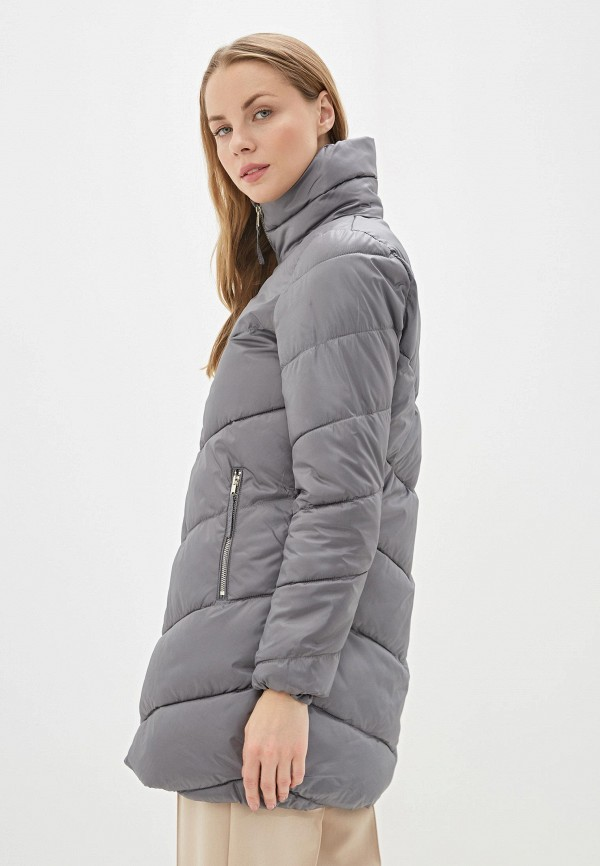 Фото 3 - Куртку утепленная Baon серого цвета