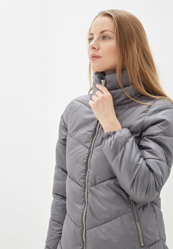 Фото 5 - Куртку утепленная Baon серого цвета