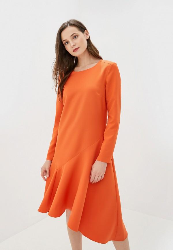женское платье baon, оранжевое