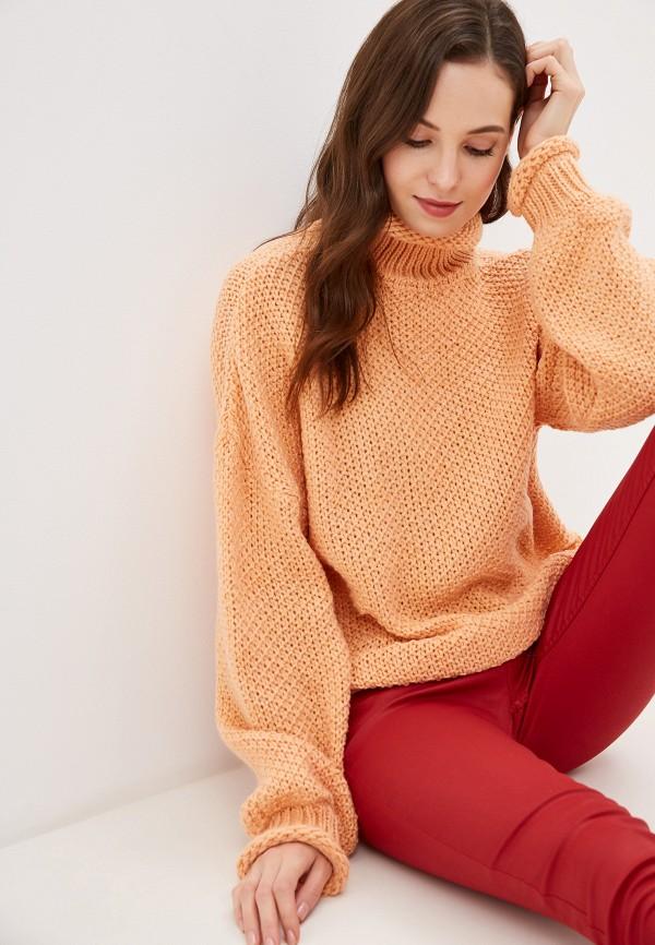 женский свитер baon, оранжевый