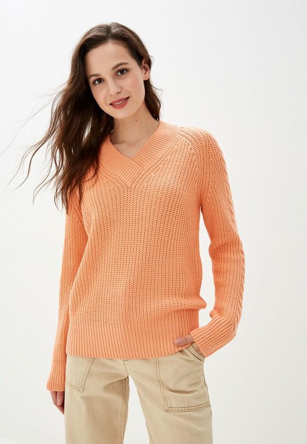 женский пуловер baon, оранжевый