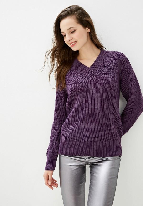 женский пуловер baon, фиолетовый