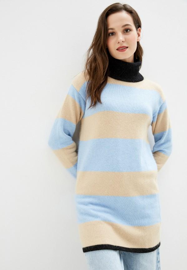 женское платье baon, голубое