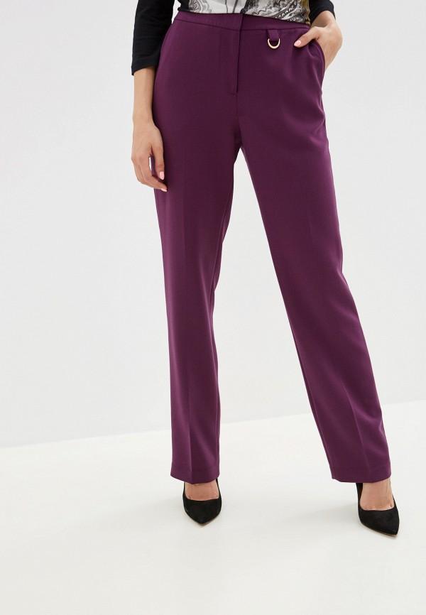 женские классические брюки baon, фиолетовые
