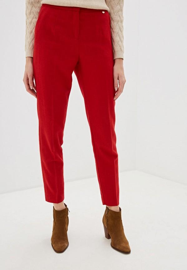 женские классические брюки baon, красные