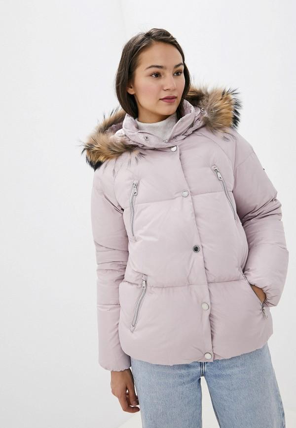 женский пуховик baon, розовый
