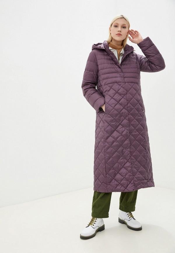 женский пуховик baon, фиолетовый