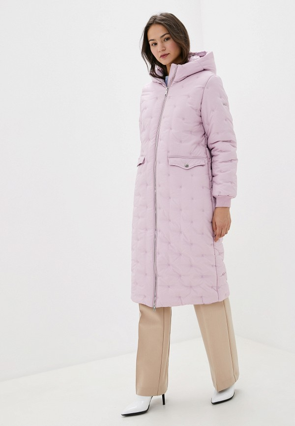 женская утепленные куртка baon, розовая