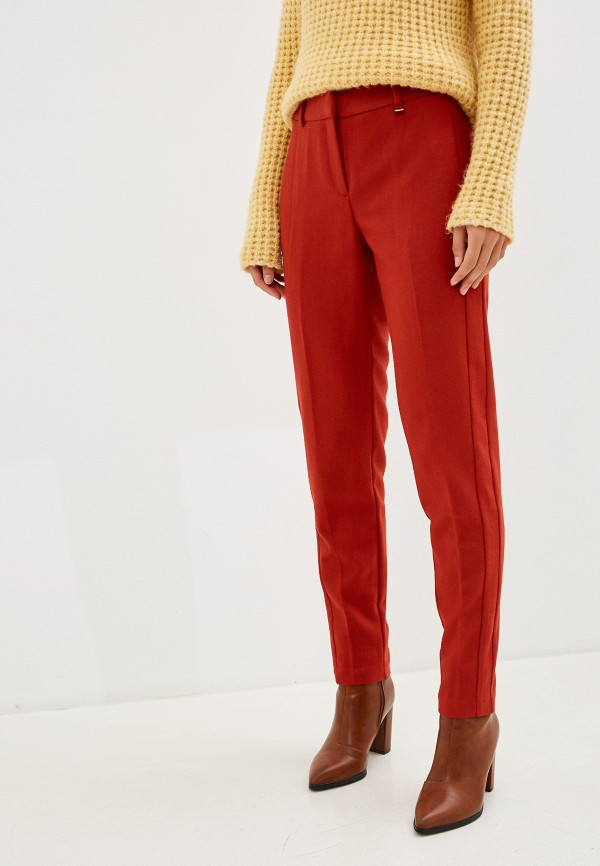 женские повседневные брюки baon, красные