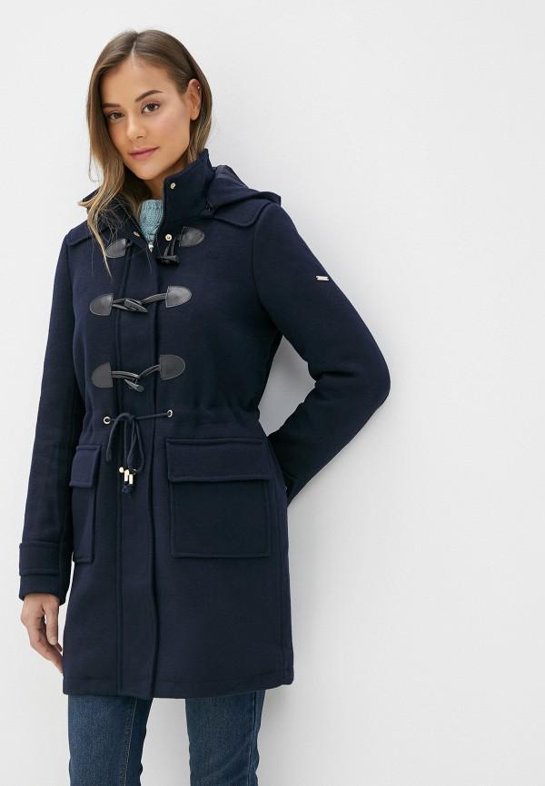 женское пальто baon, синее