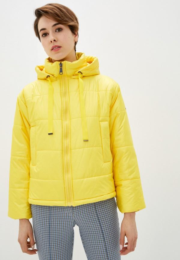 женская куртка baon, желтая