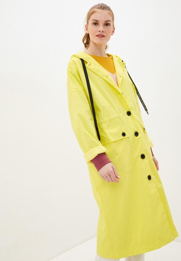 женский плащ baon, желтый