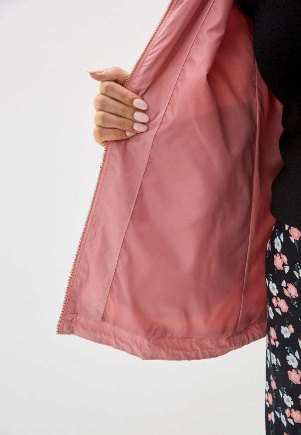 Фото 4 - Куртку Baon розового цвета
