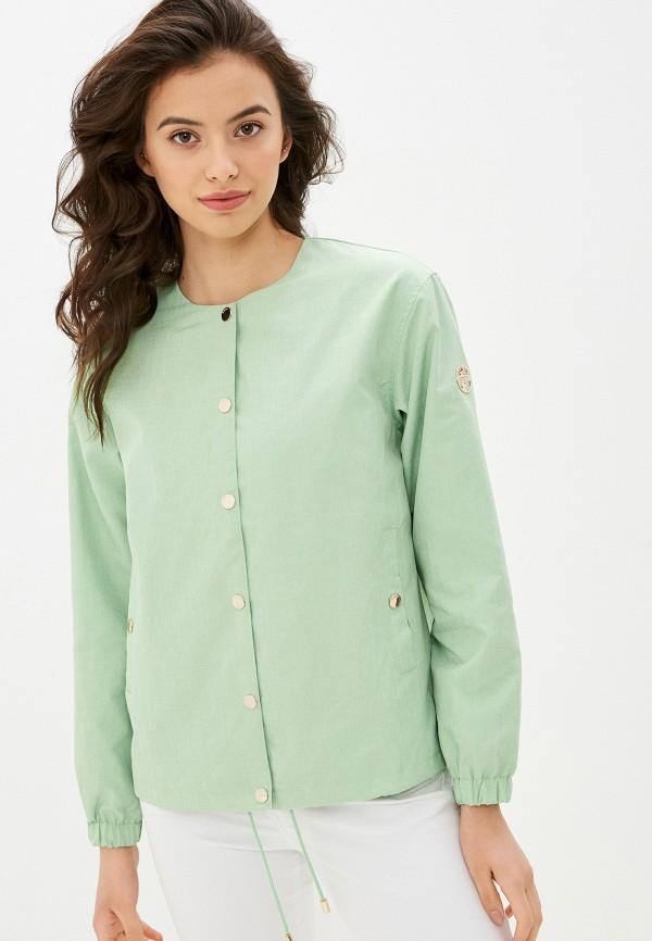 женская куртка baon, зеленая