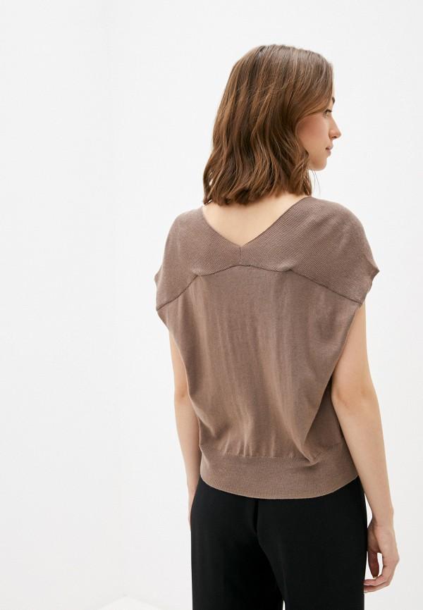 Фото 3 - Женский пуловер Baon коричневого цвета