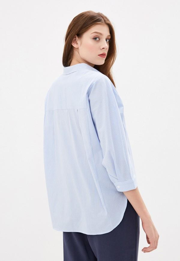 Фото 3 - Женскую рубашку Baon голубого цвета