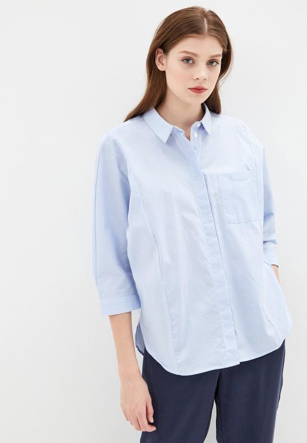 Фото 4 - Женскую рубашку Baon голубого цвета