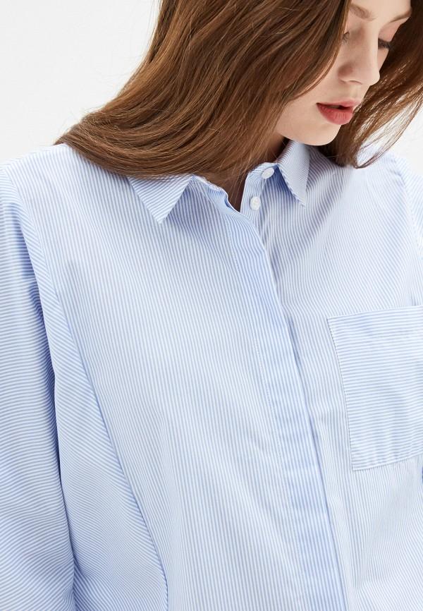 Фото 5 - Женскую рубашку Baon голубого цвета