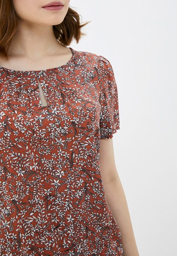 Фото 4 - Женскую блузку Baon коричневого цвета
