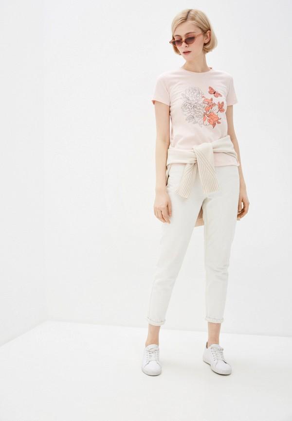 Фото 2 - Женскую футболку Baon розового цвета