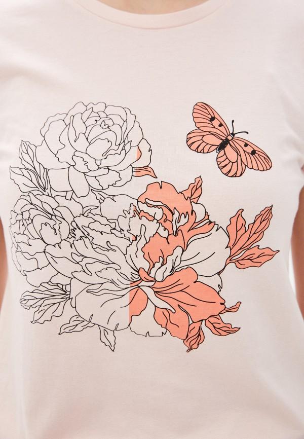 Фото 4 - Женскую футболку Baon розового цвета