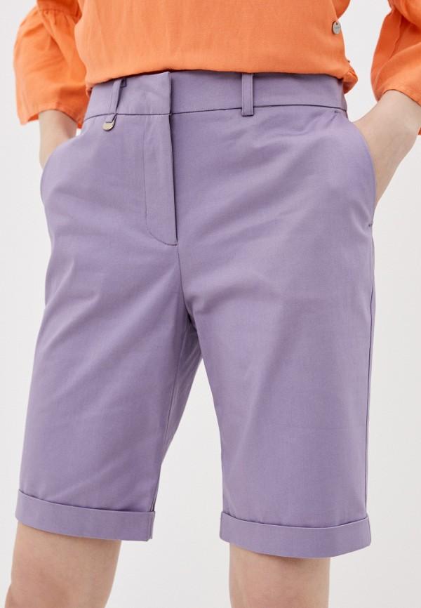 женские повседневные шорты baon, фиолетовые