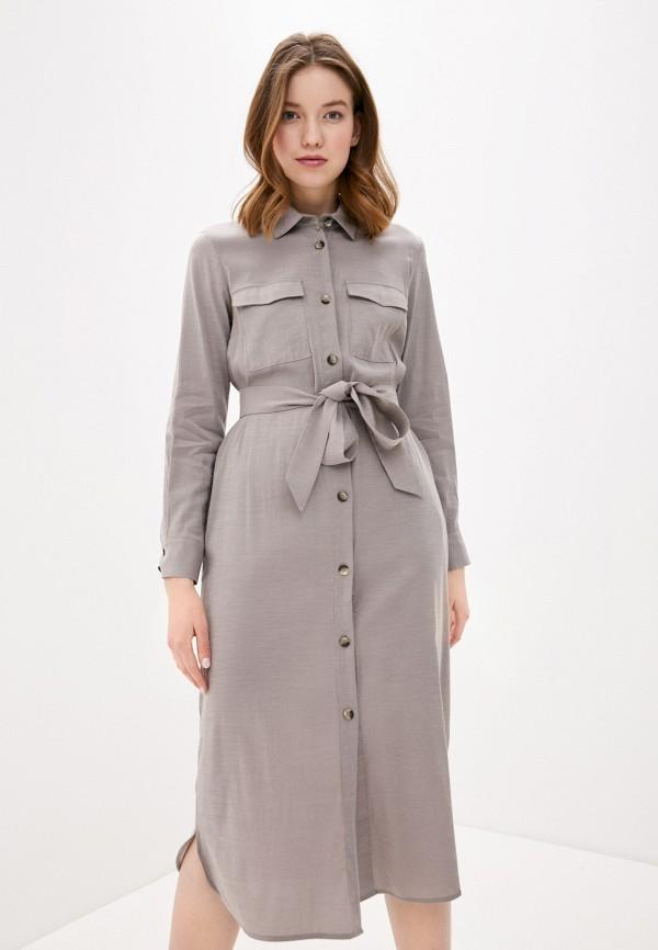 Фото - Женское платье Baon серого цвета