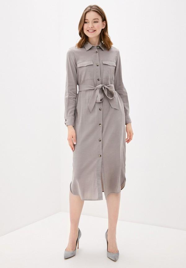 Фото 2 - Женское платье Baon серого цвета