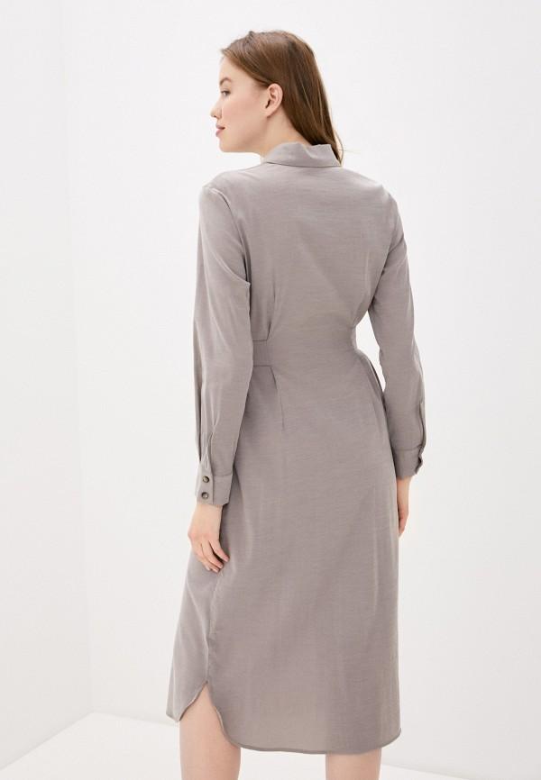 Фото 3 - Женское платье Baon серого цвета