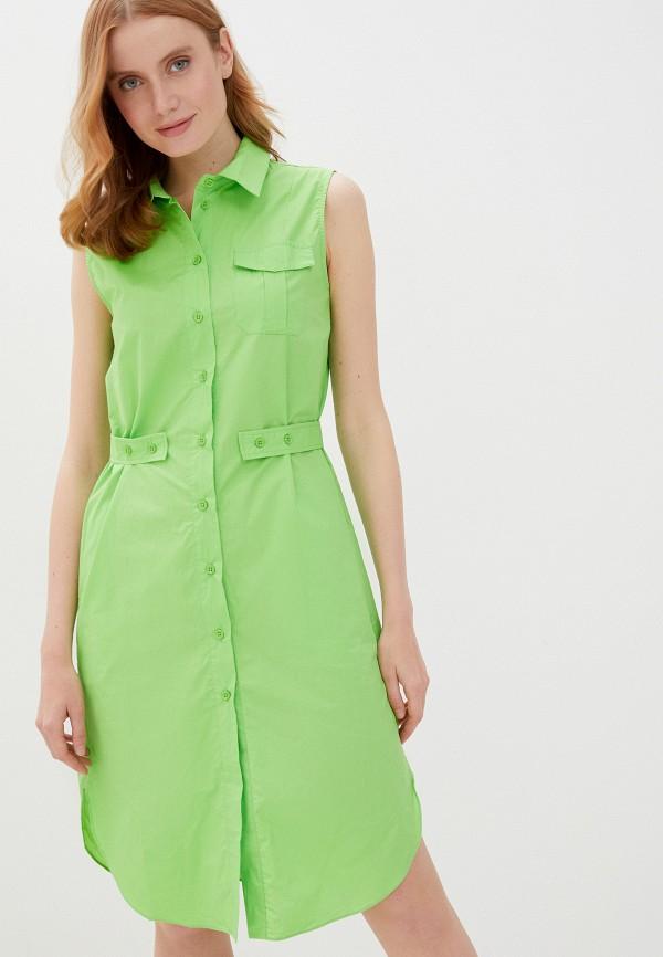 женское платье-рубашки baon, зеленое