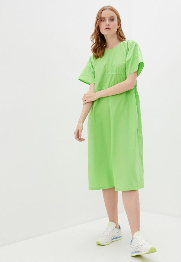 женское повседневные платье baon, зеленое