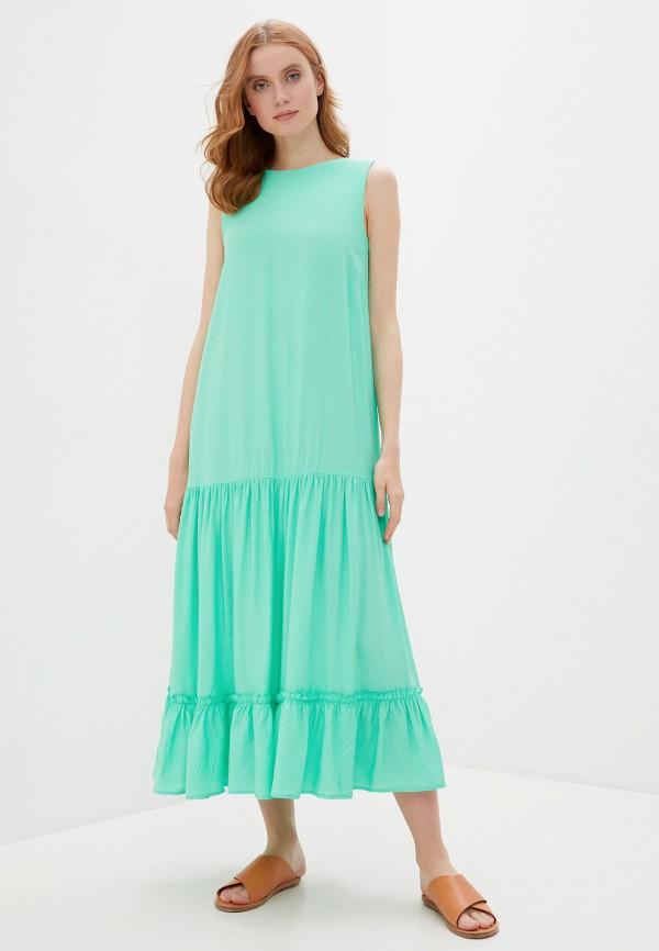 женское повседневные платье baon, бирюзовое