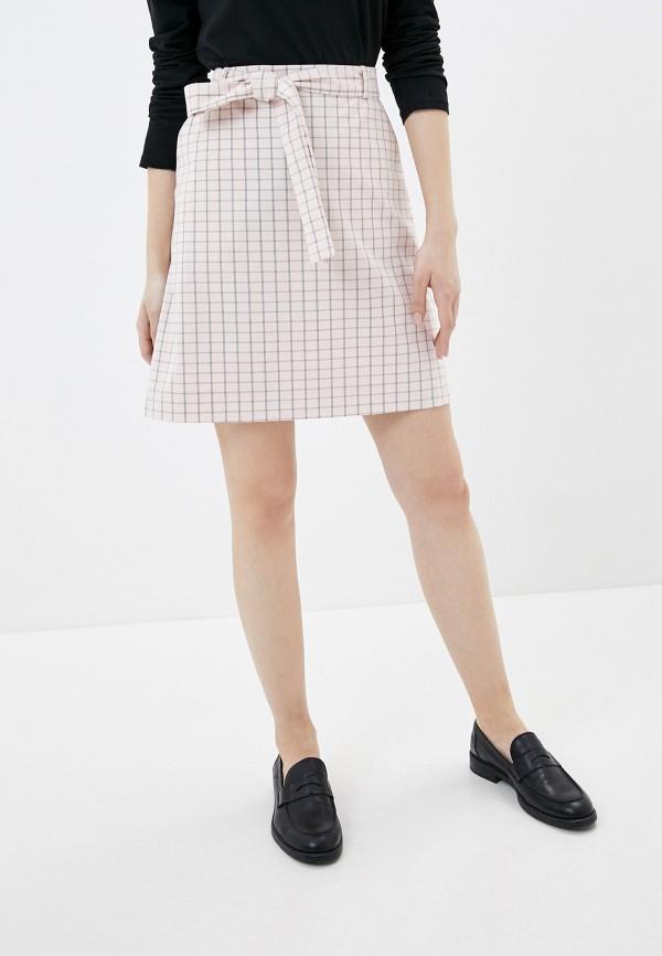 женская прямые юбка baon, розовая