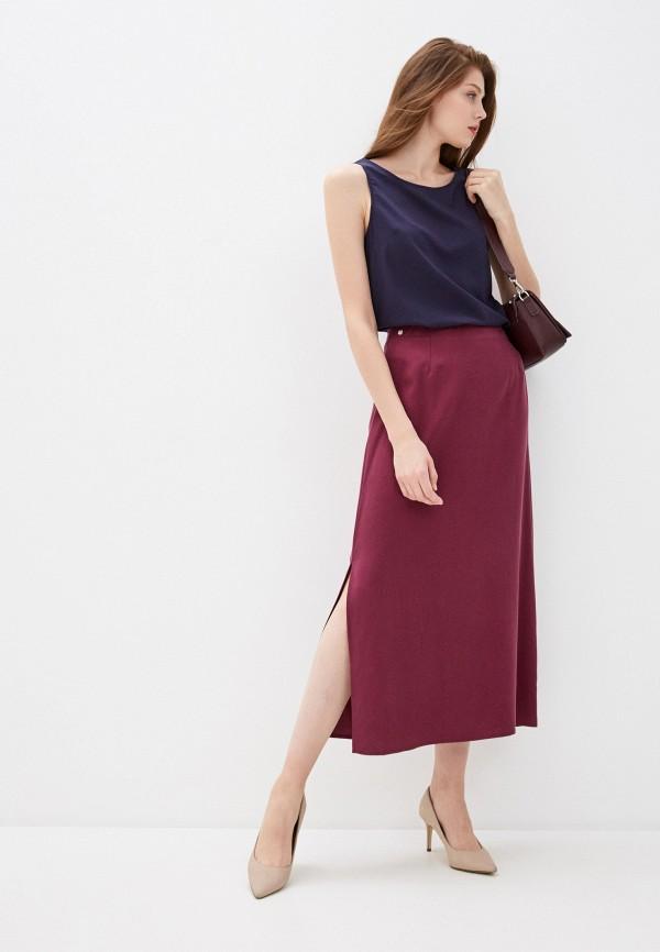 Фото 2 - Женскую юбку Baon фиолетового цвета