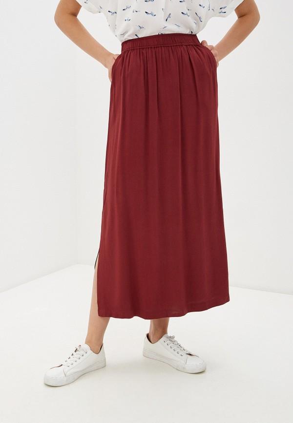 женская прямые юбка baon, бордовая