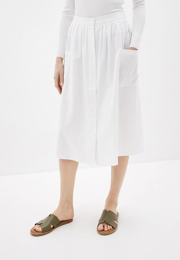 женская юбка-трапеции baon, белая