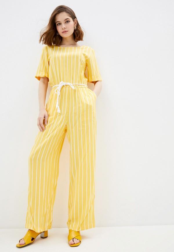 женский комбинезон baon, желтый